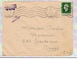 France Dulac N° 688 Y. Et T. Empreinte RBV Le Havre Seine Inf Du 04/06/1945 Année Inversé Dans 2ème Bloc Dateur - 1921-1960: Periodo Moderno