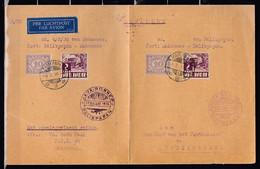 Brief Per Luchtpost Van Makassar Naar Balikpapan Java-Borneo Balikpapan - Netherlands Indies