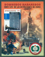 Sale - Cuba 2015 Firefighting - The 125th Anniversary Of The Great Fire Of 1890  (MNH)  - Monuments, Fire, Firefighters - Firemen