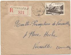N°843 SEUL LETTRE REC C.HRX VERSAILLES DD 14.11.1949 - Manual Postmarks