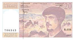 20 Francs Debussy - 20 F 1980-1997 ''Debussy''