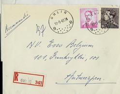 Doc. De GHLIN - B B - Du 10/05/67 En Rec. ( E ) - Landpost (Ruralpost)