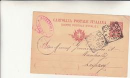 Torino Per Lipsia, Cartolina Intero Postale 1905 - Entiers Postaux