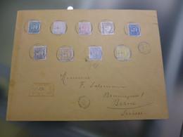 GUINÉ - 1886 - D.LUIS I - REGISTO DE BOLAMA A BERNE - Portuguese Guinea