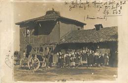 CARTE PHOTO  ARMEE D'ORIENT 1917 ENVOYEE PAR OFFICIER THIBAULT - Guerre 1914-18