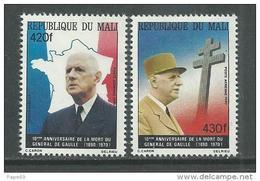 MALI  P. A.  N° 401 / 02 XX 10ème Anniversaire De La Mort Du Général De Gaulle Les 2 Valeurs  Sans Charnière TB - Mali (1959-...)