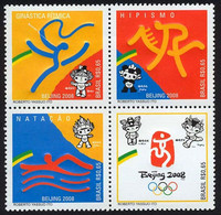 BRAZIL #3055  -  BEIJING OLYMPICS   - 4v ( + )  -   2008 MINT - Nuevos