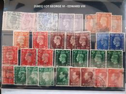 (GB01) Lot Timbres Grande Bretagne,Great Britain, EDWARD VIII - GEORGE VI - Ohne Zuordnung