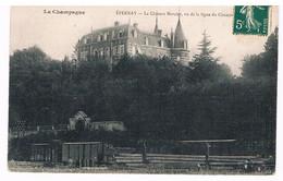 CPA : La Champagne  - EPERNAY - Le Château Mercier, Vu De La Ligne Du Chemin De Fer - Epernay