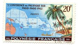 Polynésie Française 1962 - 5e Conférence Pacifique Sud - Oblitéré - N° 17 - Cote 9,00 Euros - Usati