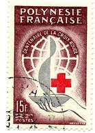 Polynésie Française 1963 - Centenaire Croix Rouge Internationale -oblitéré - N° 17 - Cote 12,50 Euros - Usati