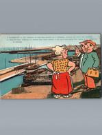 - 13 - Bouches Du Rhône - Marseille  - Cpa  - Carte Humoristique - Marius , La Sécurité Et Le Revolver - L'Estaque