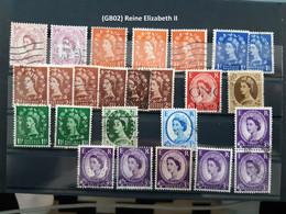 (GB02) Lot Timbres Grande Bretagne, Great Britain, Elizabeth II - Unclassified