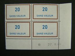 FICTIFS NEUF ** N°F226 SANS CHARNIERE (FICTIF F 226) COIN DATE DU 27.9.85 INDICE 1 - Phantomausgaben