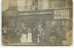 Carte Photo - Paris - Restaurant Porte Blanche - Dulieu (vendue En L'état) - Cafés, Hotels, Restaurants
