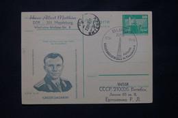 ALLEMAGNE - Entier Postal Illustration De Youri Gagarine De Magdeburg Pour L'Union Soviétique En 1981 - L 79044 - Postales - Usados