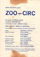 "Romania, 1970's, Bucharest - National Circus Event Programme / Flyer - ""ZOO - CIRC"" - Programas"