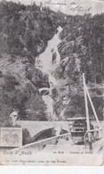 LA SALLE-AOSTA-CASCATA DI DERBY-CARTOLINA VIAGGIATA IL 4-11-1915-PRODUZIONE ANTECEDENTE-1900-1904 - Aosta