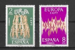 EUROPA-CEPT ESPAGNE ( N° 1744/1745 ) NEUF** - 1972