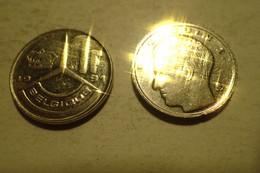1 Franc – Belgique – 1991 – Légende Française – Nickel – Etat SUP - 04. 1 Franc