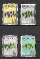 EUROPA-CEPT MALTE ( N° 452/455 ) NEUF** - 1972