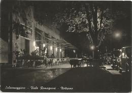 E3724 Salsomaggiore Terme (Parma) - Viale Romagnosi - Notturno Notte Nuit Night Nacht Noche / Viaggiata 1953 - Otras Ciudades
