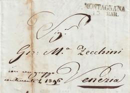 MONTAGNANA Per Venezia 13.12.1846 - 1. ...-1850 Prefilatelia