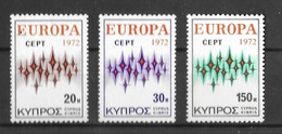 EUROPA-CEPT CHYPRE ( N° 366/368 ) NEUF** - 1972