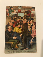 "Carte Postale Ancienne (1912)  OSTENDE Humour ""Train De Plaisir Pour Ostende""  (timbre 1c) - Oostende"