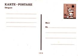 Albania Postal Stationery Card (4) - Albanie