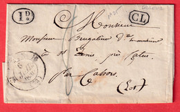 CAD TYPE 12 MEAUX SEINE ET MARNE CL NOIR PAR ERREUR POUR CAHORS LOT - 1801-1848: Precursors XIX