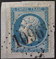 22/fgmt Obl GC 1096 Concarneau (28 Finistère) Ind 4 ; Frappe Très Nette Et TB Centrée - 1849-1876: Classic Period