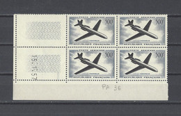FRANCE  YT Coins Datés PA  N° 36  Neuf **  1957 - Airmail