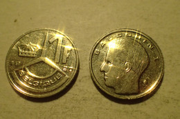 1 Franc – Belgique – 1990 – Légende Flamande – Nickel – Etat SUP - 04. 1 Franc