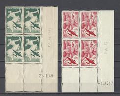 FRANCE  YT Coins Datés PA  N° 16/19  Neuf **  1946-49 - Airmail