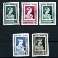 1951. Reine Elisabeth. Orchidée Postfris. 863/867 ** - Unused Stamps