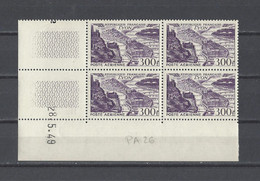 FRANCE  YT Coins Datés PA  N° 24/26   Neuf **  1949 - Airmail