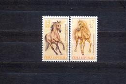 CZECH REPUBLIC - MNH - HORSES - MI.NO.784/5 - CV = 2,7 € - Ungebraucht