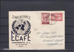 Malaya Michel Cat.No. FDC 6/7 (3) - Malayan Postal Union