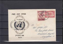 Malaya Michel Cat.No. FDC 6/7 (13) - Malayan Postal Union