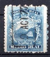 COSTA RICA - (Amérique Centrale) - 1862 - N° 1 - 1/2 R. Bleu - (Armoiries) - America Centrale
