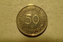 Monnaie, République Fédérale Allemande, 50 Pfennig, 1990, TTB - 50 Pfennig
