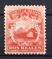 COSTA RICA - (Amérique Centrale) - 1862 - N° 2 - 2 R. Rouge - (Armoiries) - America Centrale