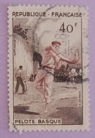"""FRANCE YT 1073 OBLITERE """"PELOTE BASQUE"""" ANNÉE 1956 - Oblitérés"""