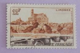 """FRANCE YT 1019 OBLITERE """"LIMOGES"""" ANNÉE 1955 - Oblitérés"""