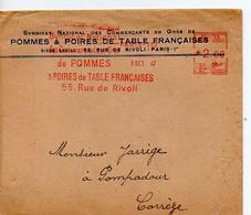 F 2  1947 Lettre Entete Syndicat Des Commerçants Pommes Poires  à Paris - 1921-1960: Période Moderne