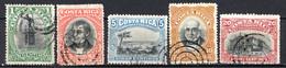 COSTA RICA - (Amérique Centrale) - 1901 - N° 41 à 45 - (Lot De 5 Valeurs Différentes) - America Centrale