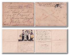 Chine 1916 Lettre FM De La Division Navale Dairen 3.3.1916 Avec Belle Correspondance Illustrée - Cartas