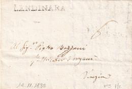 LENDINARA Per Venezia 14.11.1835 - 1. ...-1850 Prefilatelia