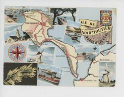 Ile De Noirmoutier Géographique, Vendée Multivues N°176 Europe - Ile De Noirmoutier